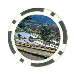 Rice Terrace Rice Fields Poker Chip Card Guard