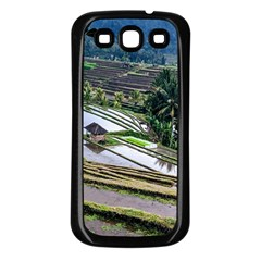 Rice Terrace Rice Fields Samsung Galaxy S3 Back Case (black)