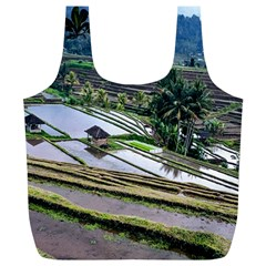 Rice Terrace Rice Fields Full Print Recycle Bags (l)