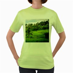 Rice Terrace Terraces Women s Green T Shirt