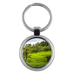 Rice Terrace Terraces Key Chains (round)