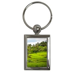Rice Terrace Terraces Key Chains (rectangle)