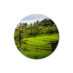 Rice Terrace Terraces Rubber Round Coaster (4 Pack)