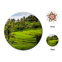 Rice Terrace Terraces Playing Cards (round)