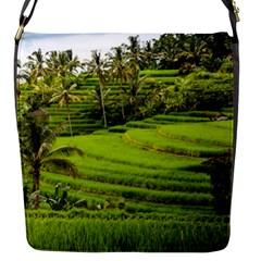 Rice Terrace Terraces Flap Messenger Bag (s)