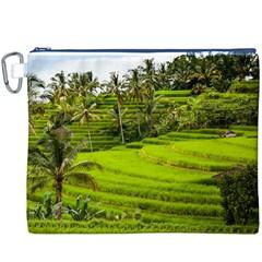Rice Terrace Terraces Canvas Cosmetic Bag (xxxl)