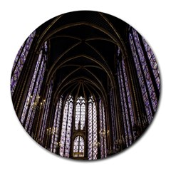 Sainte Chapelle Paris Stained Glass Round Mousepads