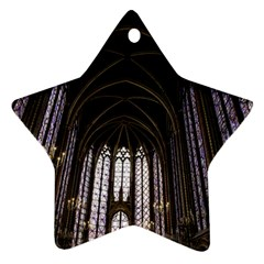 Sainte Chapelle Paris Stained Glass Ornament (star)
