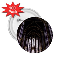 Sainte Chapelle Paris Stained Glass 2 25  Buttons (100 Pack)