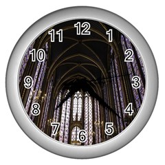 Sainte Chapelle Paris Stained Glass Wall Clocks (silver)