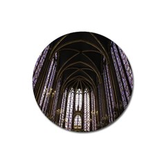 Sainte Chapelle Paris Stained Glass Magnet 3  (round)