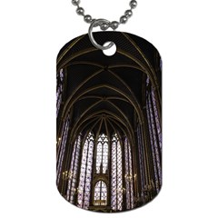 Sainte Chapelle Paris Stained Glass Dog Tag (two Sides)