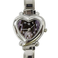 Sainte Chapelle Paris Stained Glass Heart Italian Charm Watch