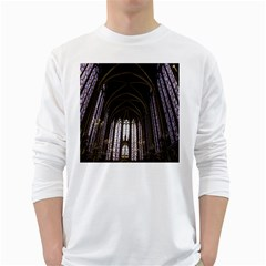 Sainte Chapelle Paris Stained Glass White Long Sleeve T Shirts