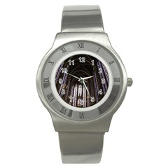 Sainte Chapelle Paris Stained Glass Stainless Steel Watch