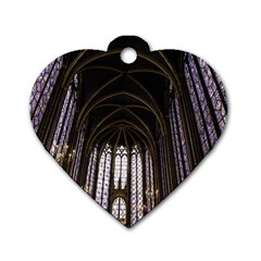 Sainte Chapelle Paris Stained Glass Dog Tag Heart (two Sides)