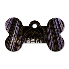 Sainte Chapelle Paris Stained Glass Dog Tag Bone (one Side)