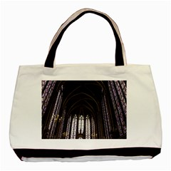Sainte Chapelle Paris Stained Glass Basic Tote Bag (two Sides)