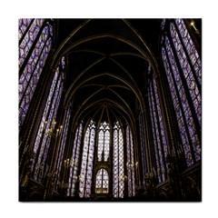 Sainte Chapelle Paris Stained Glass Face Towel
