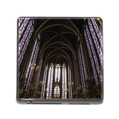 Sainte Chapelle Paris Stained Glass Memory Card Reader (square)