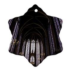 Sainte Chapelle Paris Stained Glass Ornament (snowflake)