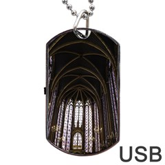 Sainte Chapelle Paris Stained Glass Dog Tag Usb Flash (one Side)