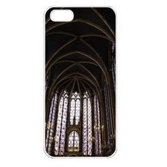 Sainte Chapelle Paris Stained Glass Apple Iphone 5 Seamless Case (white)