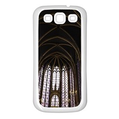Sainte Chapelle Paris Stained Glass Samsung Galaxy S3 Back Case (white)