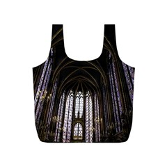 Sainte Chapelle Paris Stained Glass Full Print Recycle Bags (s)