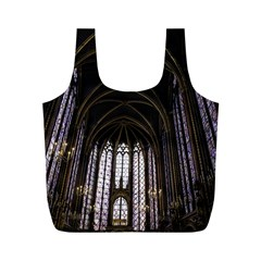 Sainte Chapelle Paris Stained Glass Full Print Recycle Bags (m)