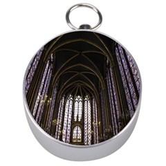 Sainte Chapelle Paris Stained Glass Silver Compasses