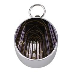 Sainte Chapelle Paris Stained Glass Mini Silver Compasses