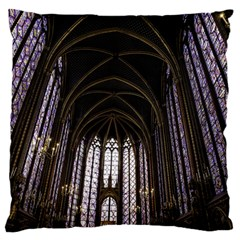 Sainte Chapelle Paris Stained Glass Standard Flano Cushion Case (two Sides)