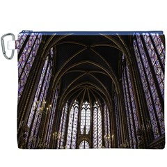 Sainte Chapelle Paris Stained Glass Canvas Cosmetic Bag (xxxl)
