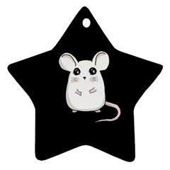 Cute Mouse Ornament (star)