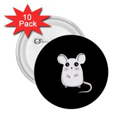 Cute Mouse 2 25  Buttons (10 Pack)