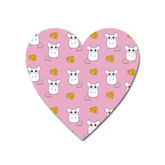 Cute Mouse Pattern Heart Magnet