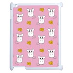 Cute Mouse Pattern Apple iPad 2 Case (White) Front