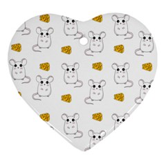 Cute Mouse Pattern Ornament (heart)