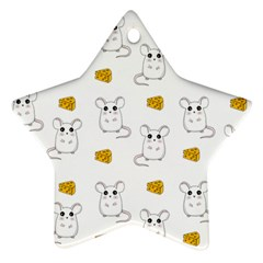 Cute Mouse Pattern Ornament (star)