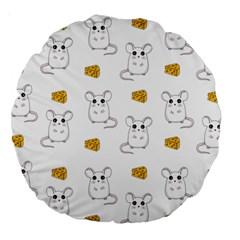 Cute Mouse Pattern Large 18  Premium Round Cushions