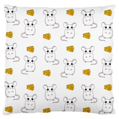 Cute Mouse Pattern Standard Flano Cushion Case (one Side)