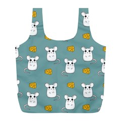 Cute Mouse Pattern Full Print Recycle Bags (l)