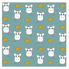Cute Mouse Pattern Large Satin Scarf (square)