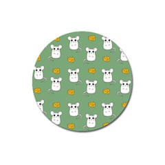 Cute Mouse Pattern Magnet 3  (round)