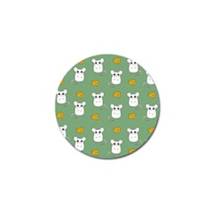 Cute Mouse Pattern Golf Ball Marker (10 Pack)