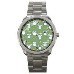 Cute Mouse Pattern Sport Metal Watch