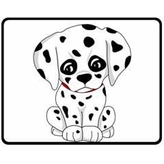 Cute Dalmatian Puppy  Double Sided Fleece Blanket (medium)