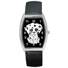 Cute Dalmatian Puppy  Barrel Style Metal Watch