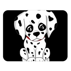Cute Dalmatian Puppy  Double Sided Flano Blanket (large)